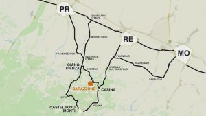 Cartina Barazzone - Libera Osteria